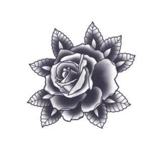 Tattooed Now! Black Rose