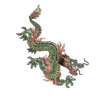 Tattooed Now! Green Oriental Dragon