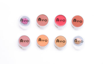 M.Y.O Makeup Pods - Small Transparent 6 Pack  Secure sealing and refillable 'transparent' M·Y·O Makeup Pods assists to instantly and always see what product is in each of your pods. These pods make it easier, safer, and more convenient than ever to carry lotions, creams, gels, lipstick, loose powders and more. The pods go within the M.Y.O Kits.