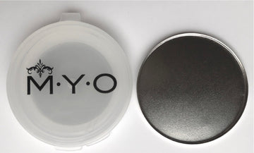 M.Y.O XXL Makeup Pod & Mixing Pan: (the original) Secure sealing and refillable 'transparent' M·Y·O Makeup Pods assists to instantly and always see what product is in each of your pods.  Perfect for post-COVID-19 filming.