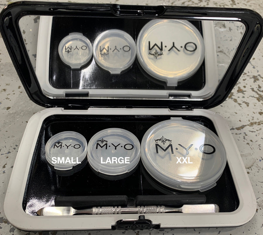 M.Y.O Makeup Pods - Large Transparent 4 Pack - Precious About Make-up, (product_title),Palette, M.Y.O