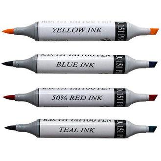 Different colours of the K151 TATTOO PENS. Essential for on set.