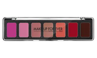 Make Up Forever Rouge Artist Lipstick Palette (7 Colour) - The harmony no.1 features seven creamy lipsticks in both warm and cool shades of red, beige and rosewood. These essential colors gives the artist infinite combinations to create a large variety of custom shades. The range of color and the easy-glide texture makes this palette a must-have for every Makeup Artist.