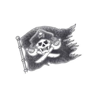 Tattooed Now! Pirate Flag
