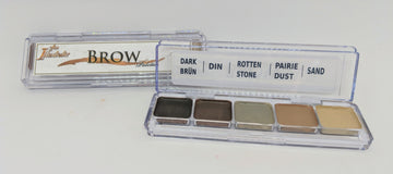 PPI Skin Illustrator Brow Palette is a small five colour alcohol based makeup palette perfect for filling in eyebrows or creating and reshaping eyebrow lines. Creating a durable, water and abrasion resistant brow for all day wear.  You can use Skin Illustrator Activator, Skin Illustrator Slow Activator, or 99% alcohol to activate the color pigment.  Remove using Telesis Super Solv, Pro Clean or Mouldlife Cosmetic Tonic.