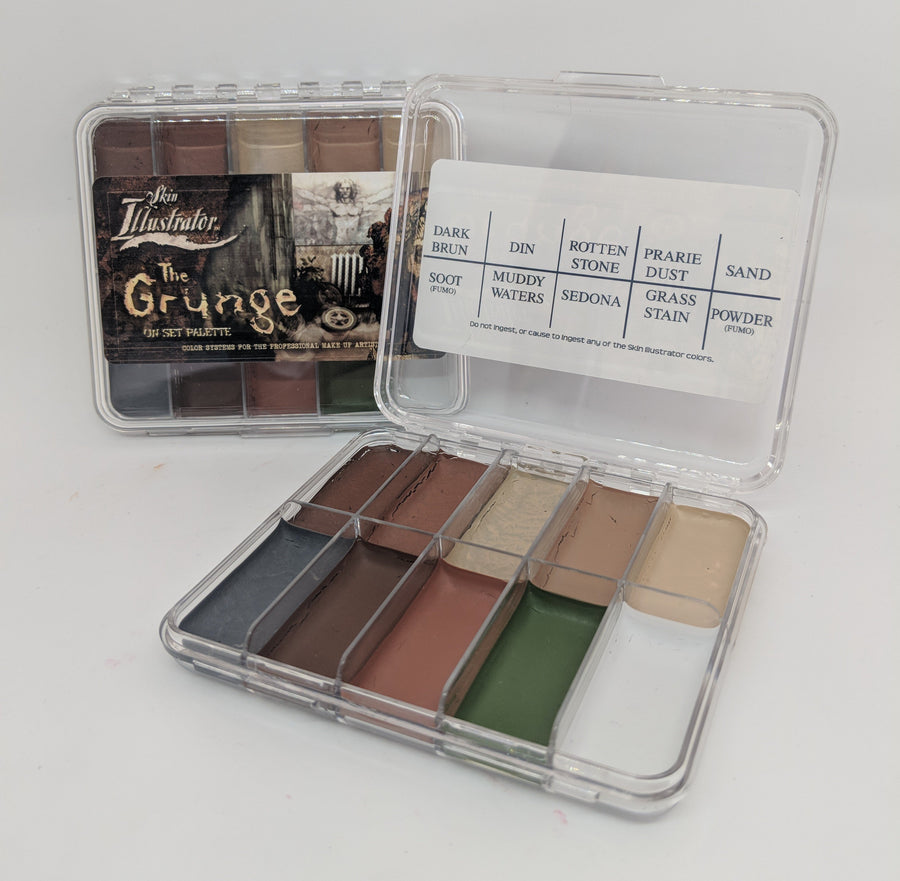 The collection of colours in this palette have been put together to simulate a variety of dirt, grime and filth effects. The different colours are available as liquids and concentrates for airbrushing and refilling your palette. Remove using Telesis Super Solv, Proclean and Cosmetic Tonic.