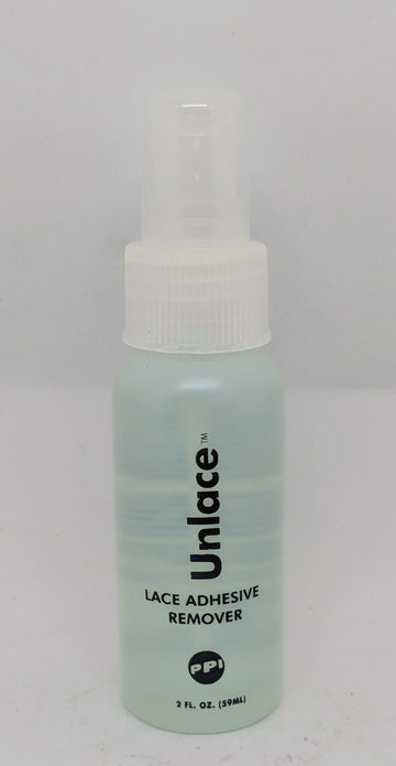 PPI Unlace - Wig Adhesive Remover a lovley gentle on the lace remover, ideal on your actors wig lace. Dab it on, leave it briefly and it glides off beautifully, yet it doesn t leave an oily residue. Used properly, most of the adhesive residue will remain on your scalp, not on the hair system. Top Tip - remember to have your tissue underneath when dabbing to protect actors eyes - it does come out reasonably fast.