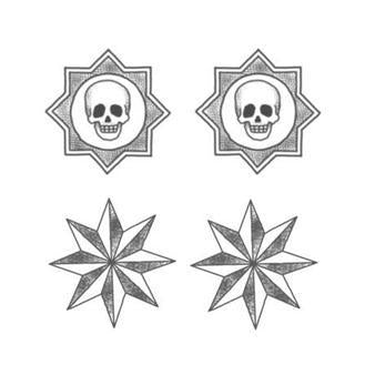 Tattooed Now! Skulls and Stars - Precious About Make-up, (product_title),Tattoo, Tattooed Now!