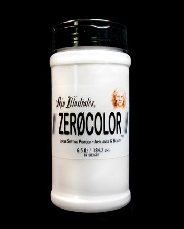 Skin Illustrator Zerocolør- A fantastic powder for setting makeup. A highly refined translucent powder used for any application where a quality powder is used. Zero-colouris all vegan and paraben-free.    Ingredients Talc, Silica, Mica, Laurolactam