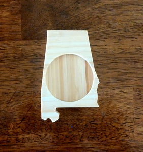 Alabama State Shaped Bamboo Coasters (set of four)