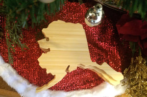 Alaska State Shaped Bamboo Coasters (set of four)
