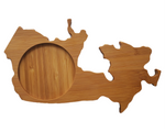 CANADA Shaped Bamboo Coasters (set of four)