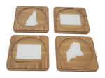 Create Your Own Square Bamboo Coasters, Set of Four - CUSTOMIZE- Kitchen Decor, Barware, gift idea, Stocking Stuffer
