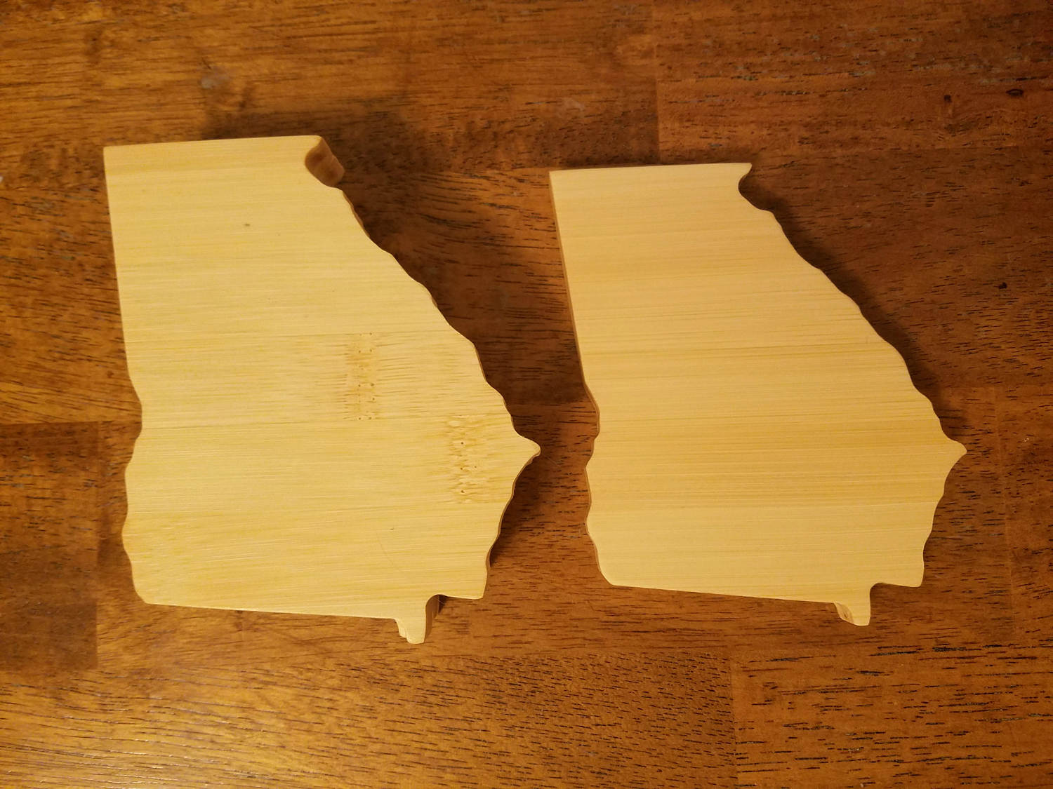 8f01b303ae3 Georgia State Shaped Bamboo Coasters (set of four) – Mitten Made ...