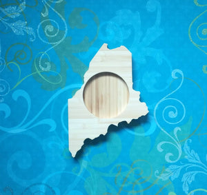 Maine State Shaped Bamboo Coasters (set of four)