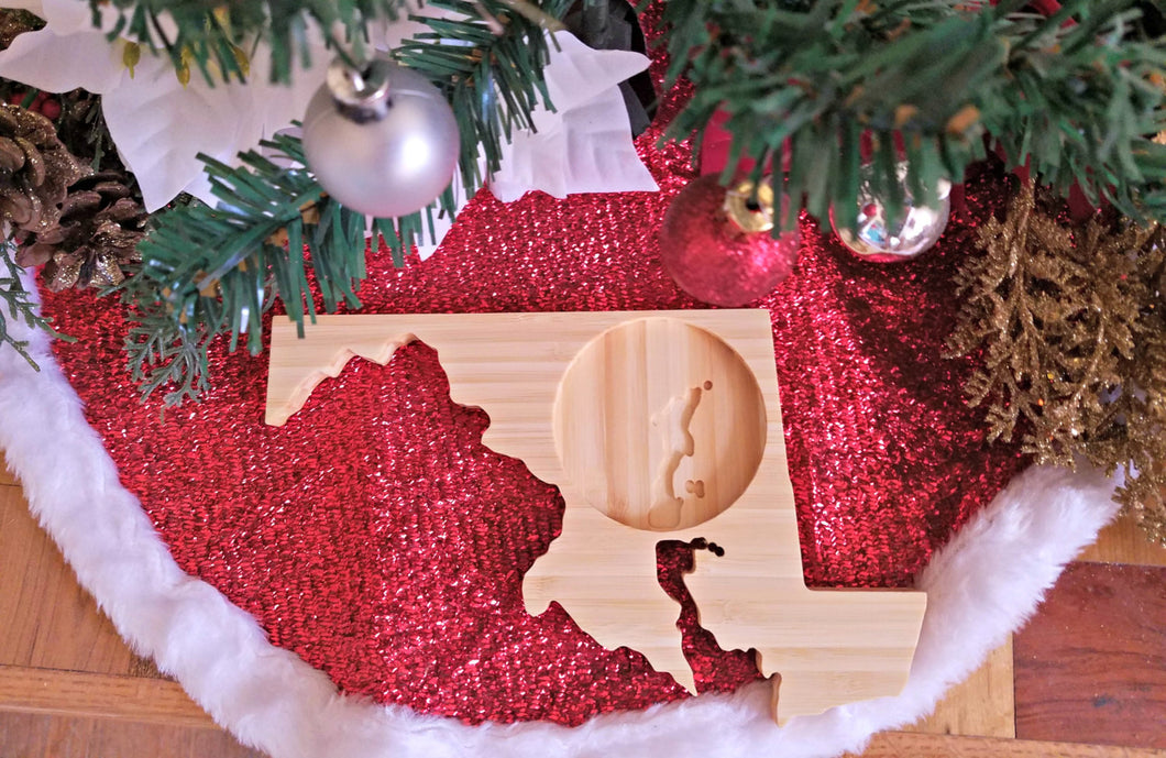 Maryland State Shaped Bamboo Coasters (set of four)