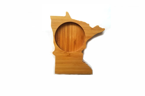 Minnesota State Shaped Bamboo Coasters (set of four)