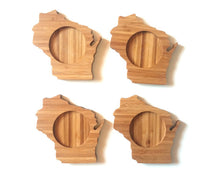 Wisconsin State Shaped Bamboo Coasters (set of four)