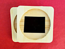 Colorado (ANY STATE shape available!) Square Bamboo Coasters, Set of Four - CUSTOMIZE- Kitchen Decor, Barware, gift idea, Stocking Stuffer