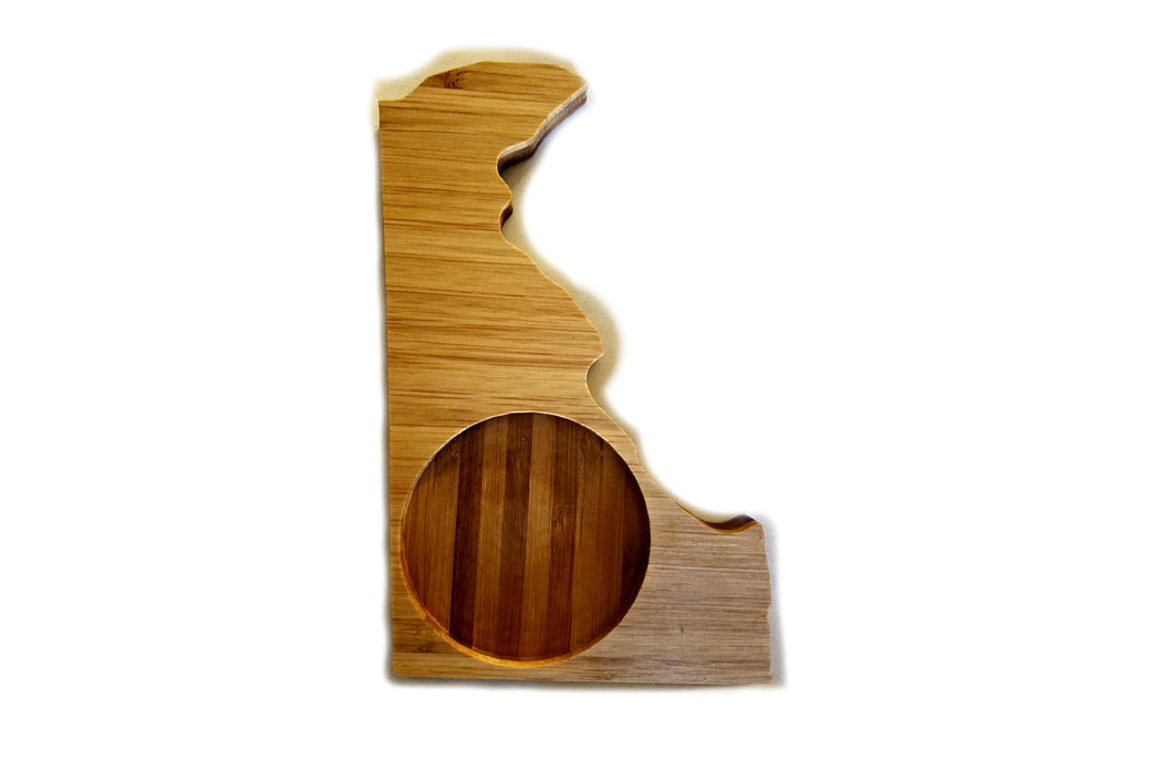 Delaware State Shaped Bamboo Coasters (set of four)