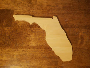 Florida State Shaped Bamboo Coasters (set of four)