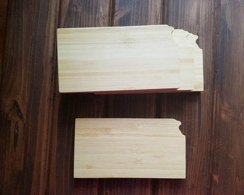 Kansas State Shaped Bamboo Coasters (set of four)