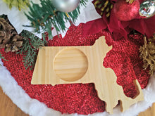 Massachusetts State Shaped Bamboo Coasters (set of four)