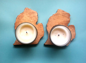 State Shaped Candle Holders, Set of TWO (any state or shape available), Tea light candle holders, Housewarming gift, Travel