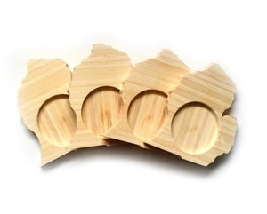 MICHIGAN State Shaped Bamboo Coasters (set of four)