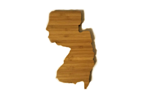 New Jersey State Shaped Bamboo Coasters (set of four)