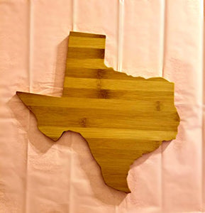 Texas State Shaped Bamboo Coasters (set of four)