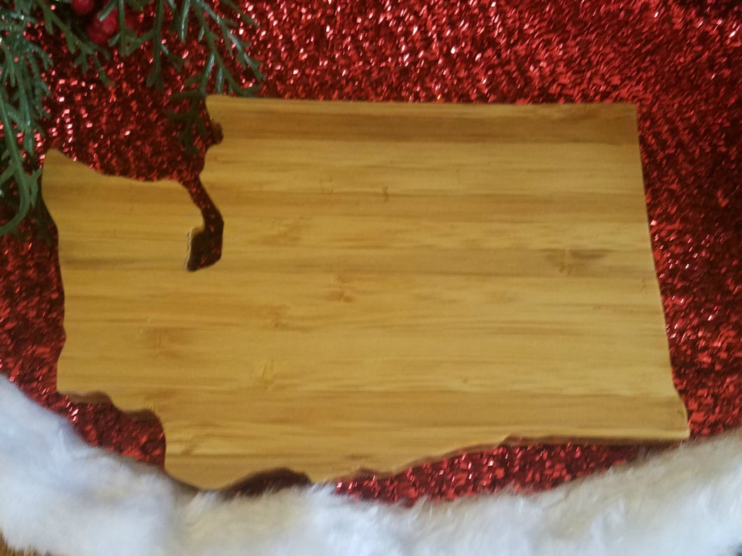 Washington State Shaped Bamboo Coasters (set of four)