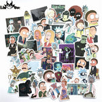 50pcs American Drama New Rick and Morty Funny Sticker Decal For Car Laptop Bicycle Motorcycle Notebook Waterproof DIY Stickers