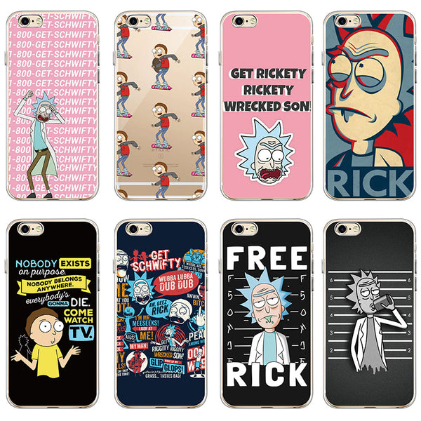 Rick And Morty Funny Cartoon Comic Meme Soft Clear Phone Case Cover Fundas Coque For iPhone 7 7Plus 6 6S 6Plus 8 8PLUS X SAMSUNG 1