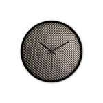 """Metal Alike"" Non-Ticking Silent Wall Clock with Modern and Nice Design for Wall Decoration (Black)"