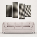 """Metal Alike"" 4 Panels Canvas Prints Wall Art for Wall Decorations"