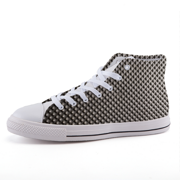 """Metal Alike"" High-top fashion canvas shoes"