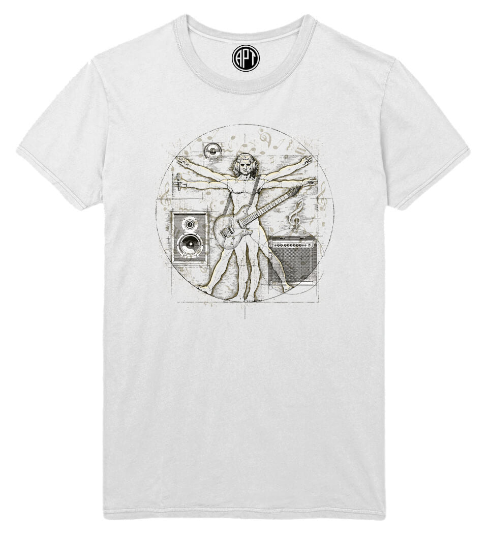 Davinci Music Printed T-Shirt-White