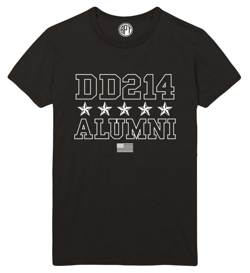 DD214 Printed T-Shirt-Black