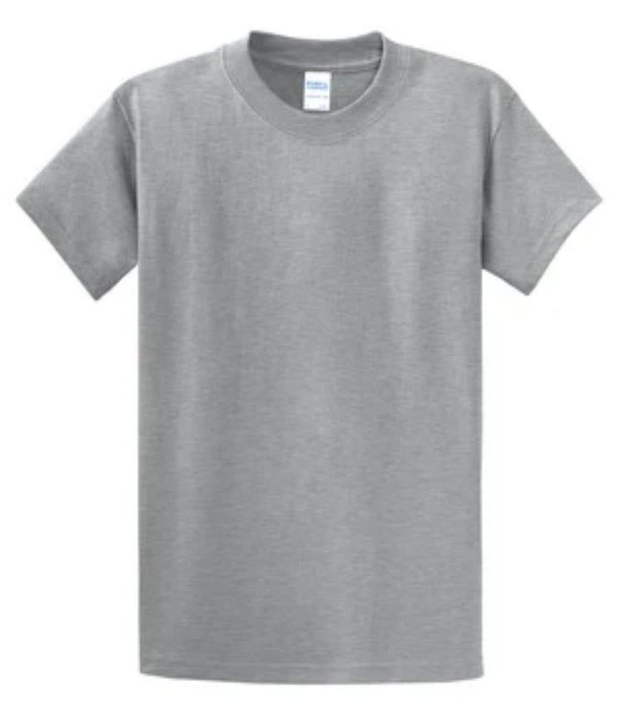 Port & Company 100% Cotton Essential T-Shirt Athletic Gray Tall PC61T