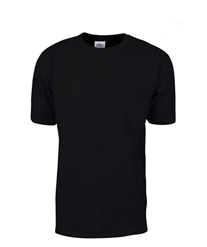 Shaka Wear Max Heavyweight 7.5 oz 100% Cotton T-Shirt Black Tall