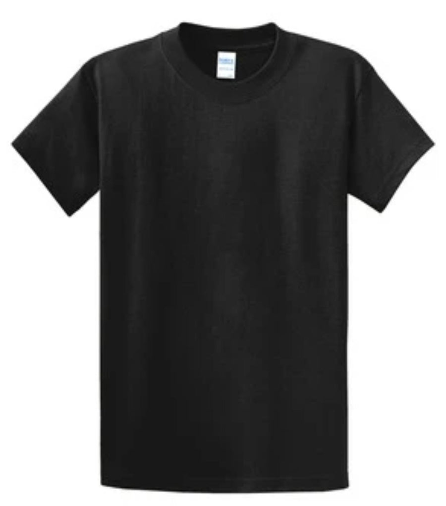 Port & Company 100% Cotton Essential T-Shirt Black Tall PC61T