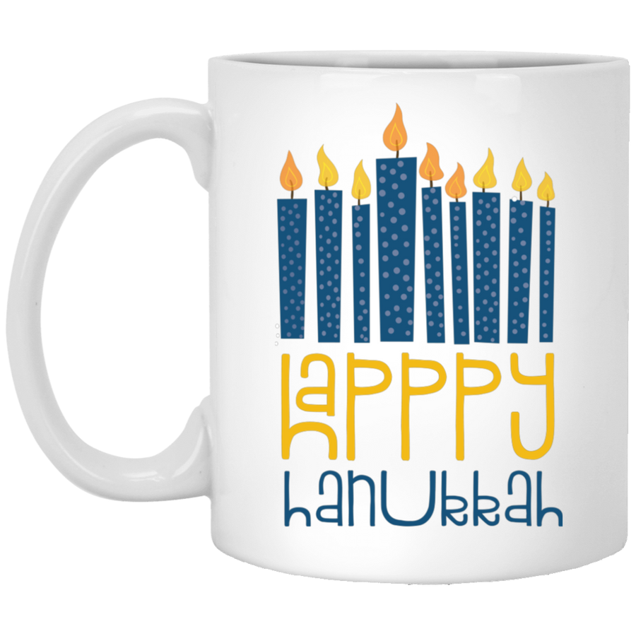 Happy Hanukkah Mug 11oz