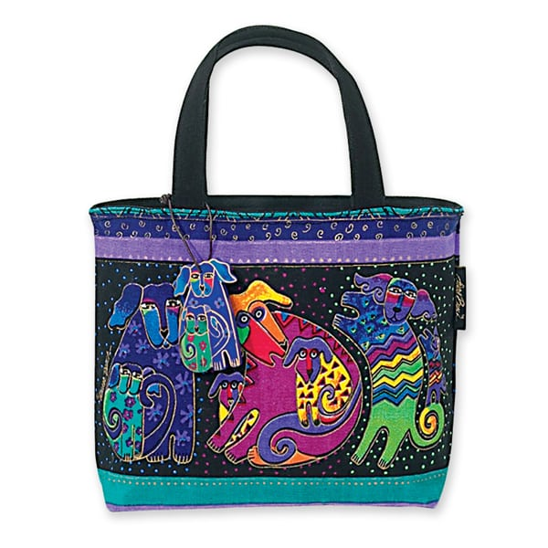 Dog & Doggies Small Tote by Laurel Burch