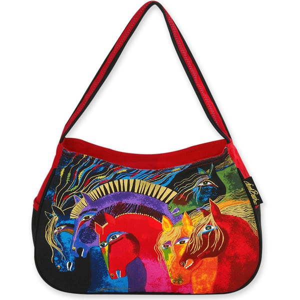 Wild Horses Of Fire Medium Hobo by Laurel Burch