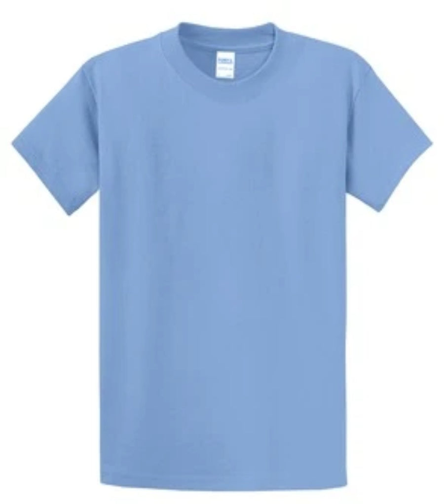 Port & Company 100% Cotton Essential T-Shirt Light Blue PC61