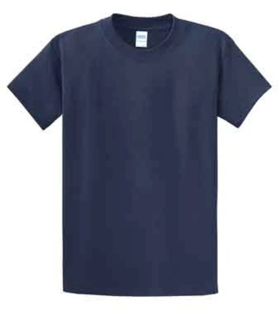 Port & Company 100% Cotton Essential T-Shirt Navy Tall PC61T
