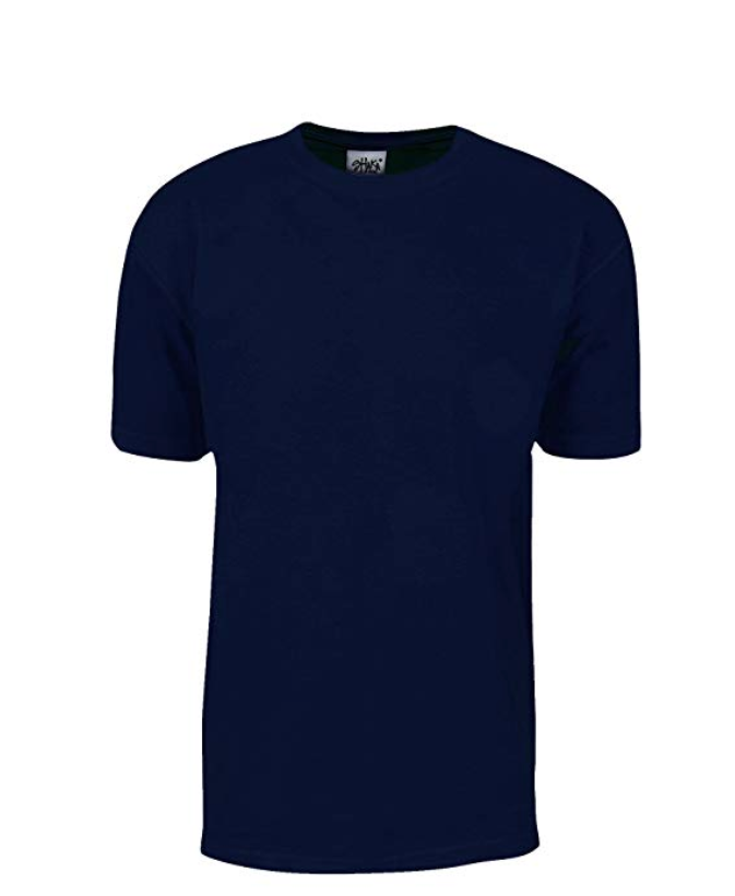 Shaka Wear Max Heavyweight 7.5 oz 100% Cotton T-Shirt Navy Tall