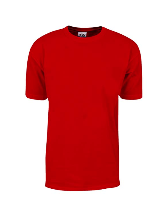 Shaka Wear Max Heavyweight 7.5 oz 100% Cotton T-Shirt Red Tall