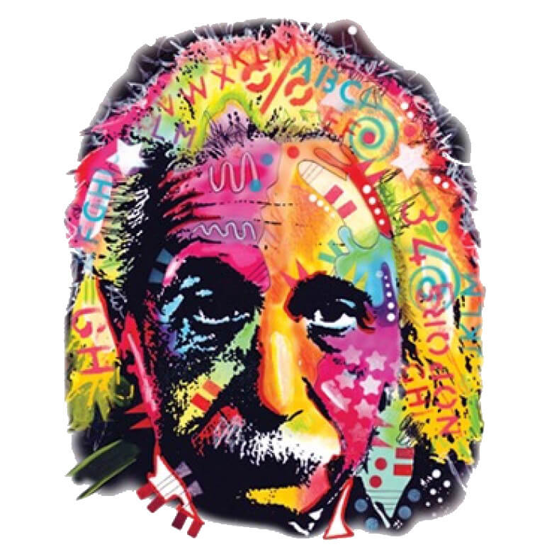 Albert Einstein Neon Printed T-Shirt